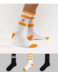 White and Yellow Socks