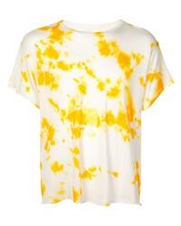 The Elder Statesman Tie Dye Print T Shirt