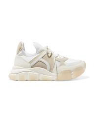 Salvatore Ferragamo Cimbra Leather Suede And Neoprene Sneakers