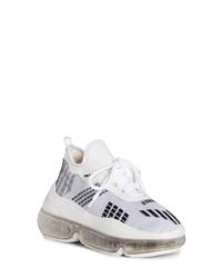 Prada Knit Clear Sole Sneaker