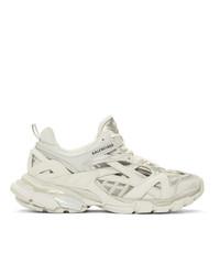 Balenciaga Off White Track2 Open Sneakers