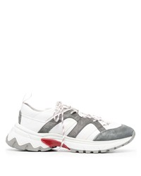 Eleventy Panelled Colour Block Sneakers