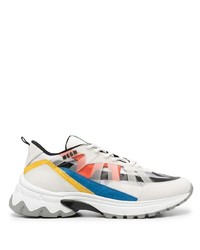 MSGM Panelled Low Top Sneakers