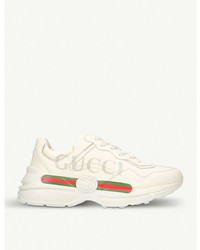 Gucci Rhyton Logo Leather Running Trainers