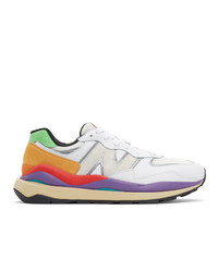 New Balance White 5740 Sneakers