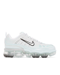 Nike White And Blue Vapormax 360 Sneakers