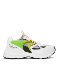 Axel Arigato White And Green Marathon Hd Sneakers