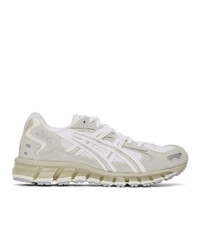 Asics White And Grey Gel Kayano 5 360 Sneakers