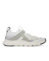 Z Zegna White And Grey Techmerino Sneakers