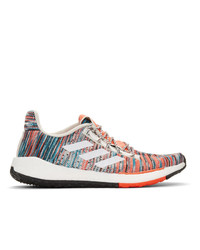 adidas x Missoni White And Orange Pulseboost Hd Sneakers