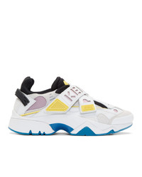 Kenzo White And Pink New Sonic Sneakers