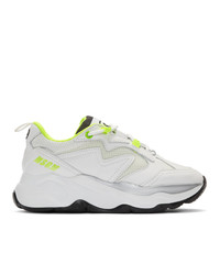 MSGM White Attack Sneakers