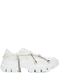 Rombaut White Boccaccio Ii Future Leather Harness Sneakers