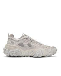 Acne Studios White Bolzter M Tumbled Sneakers