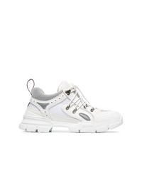 Gucci White Flashtrek Leather Sneakers