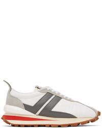 Lanvin White Grey Bumpr Sneakers