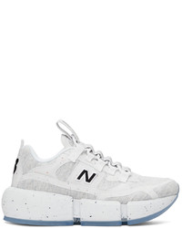 New Balance White Grey Jaden Smith Edition Vision Racer Sneakers