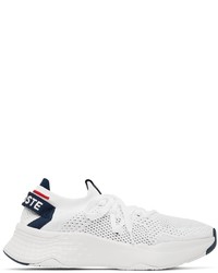 Lacoste White Knit Court Drive Sneakers
