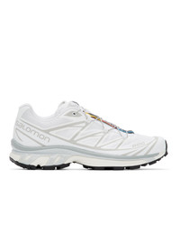 Salomon White Limited Edition Xt 6 Adv Sneakers
