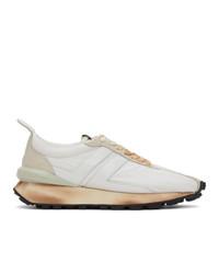 Lanvin White Nylon Bumper Sneakers