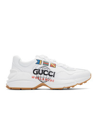 Gucci White Worldwide Rhyton Sneakers