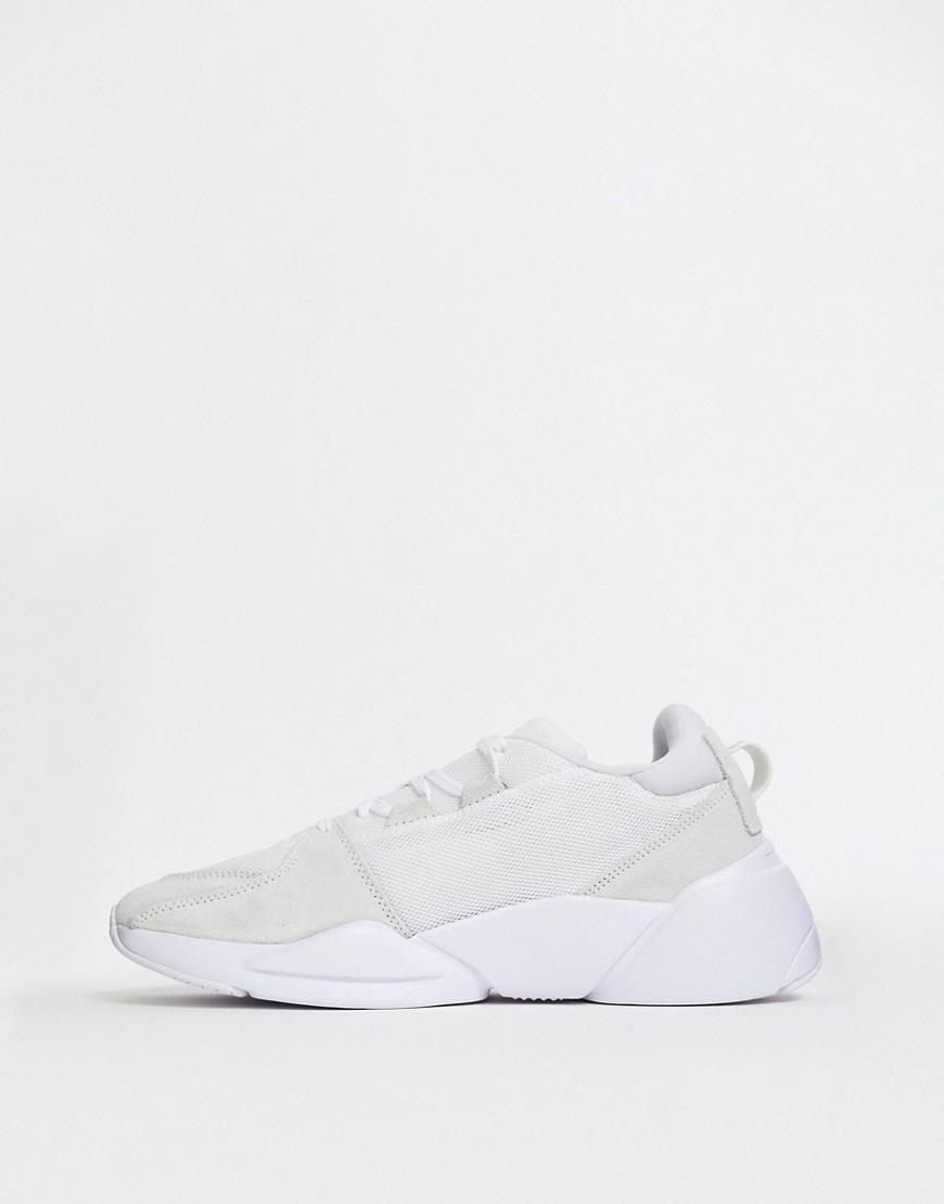 Puma Zeta Suede Trainers In White, $25