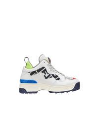Fendi Zucca Panel Platform Sneakers