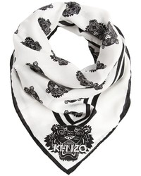 Kenzo Tiger Printed Cotton Silk Bandana