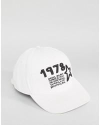 Diesel Cateen Baseball Cap In White