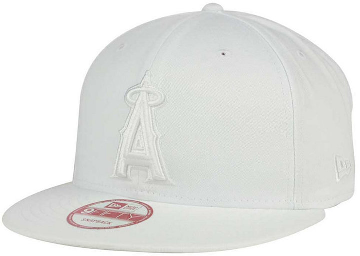... New Era Los Angeles Angels Of Anaheim White On White 9fifty Snapback  Cap ... 22fbdf6025e