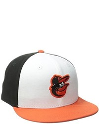 New Era Mlb Baltimore Orioles Home Youth Ac On Field 59fifty Fitted Cap White 6 34