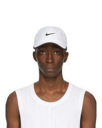 Nike White And Black Logo Featherlight Running Cap