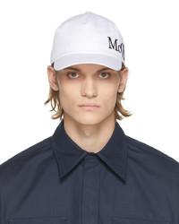 Alexander McQueen White Black Logo Cap