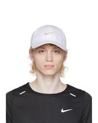Nike White Featherlight Running Cap