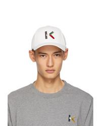 Kenzo White Logo Cap