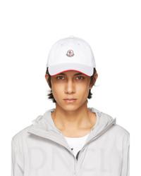 Moncler White Tricolor Baseball Cap
