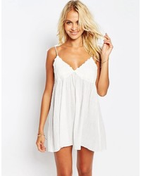 Asos Lace Cup Babydoll Beach Dress