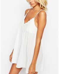 83882e103d ... White Beach Dresses Asos Lace Cup Babydoll Beach Dress Asos Lace Cup  Babydoll Beach Dress ...