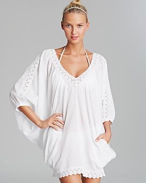 a6d949d019 OndadeMar White Cotton Gauze Poncho Swim Cover Up, $175 ...