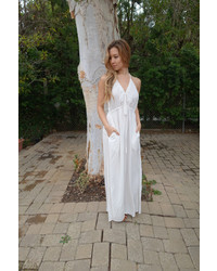 Tysa Capri Dress In Off White