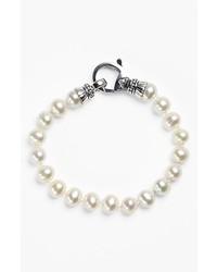 Lagos luna 75mm pearl bracelet silver pearl medium 277094