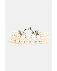 Lagos luna double strand pearl bracelet gold pearl medium 277108