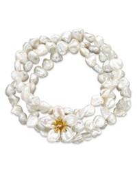 Macy's 14k Gold Bracelet Cultured Freshwater Keishi Pearl