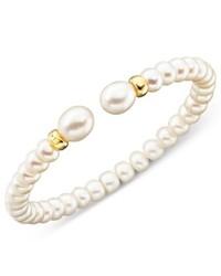 Macy's 14k Gold Cultured Freshwater Pearl Rondell Bracelet