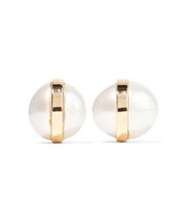Melissa Joy Manning 14 Karat Gold Pearl Earrings