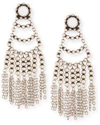 Dannijo Dolci Beaded Chandelier Earrings White