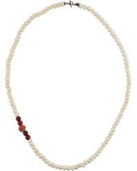 Long bone african beaded necklace medium 4416082