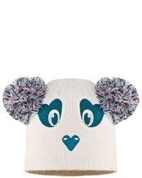 Animal Mollines Panda Pom Ears Beanie