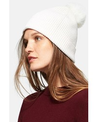 Vince Beanie With Genuine Rabbit Fur Pom