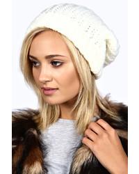 Boohoo Bella Chunky Rib Boyfriend Beanie Hat